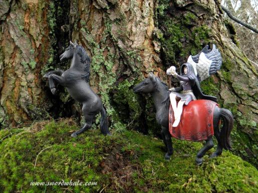 Schleich faeries in the backyard